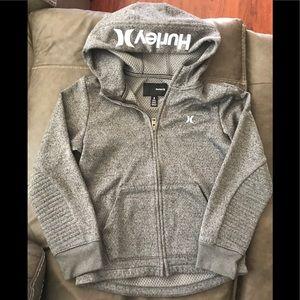 Bundle- Hurley zip-up hoodie & Volcom t-shirt